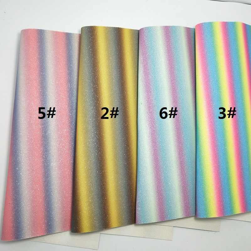 1 PCS A4 KÍCH THƯỚC 21X29 cm Alisa Glitter Vinyl Cho Cung, in Cầu Vồng Long Lanh Da cho DIY K77C