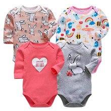 4 pcs/set Tender Babies newborn bodysuit baby babies bebes clothes long sleeve cotton printing infant clothing 0-24 Months