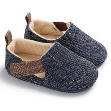 Maluch Baby Boy miękkie piękne szopka buty trampki śliczne miękkie podeszwy rozmiar 0-18 miesięcy gorąca sprzedaż tanie tanio pudcoco Unisex Stałe Dla dzieci Pasuje prawda na wymiar weź swój normalny rozmiar Płótno Crib shoes RUBBER Wszystkie pory roku