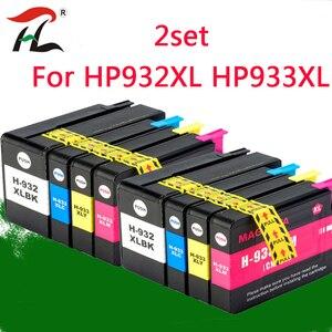 Image 1 - 2 Set 932XL 933 Voor HP932 933XL Vervanging Inkt Cartridge Voor Hp 932 933 Officejet 6100 6600 6700 7110 7610 7612 Printer
