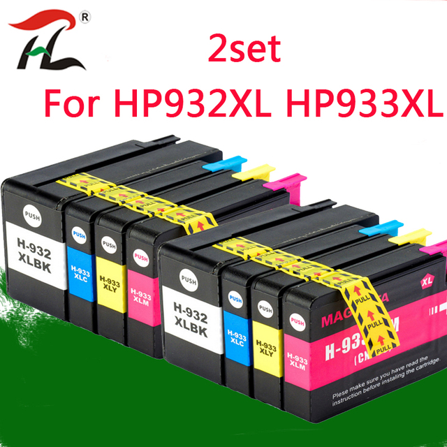 2 Set 932XL 933 Voor HP932 933XL Vervanging Inkt Cartridge Voor Hp 932 933 Officejet 6100 6600 6700 7110 7610 7612 Printer