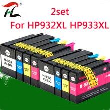 2 Set 932XL 933 per HP932 933XL Cartuccia di Inchiostro di Ricambio per Hp 932 933 Officejet 6100 6600 6700 7110 7610 7612 Stampante
