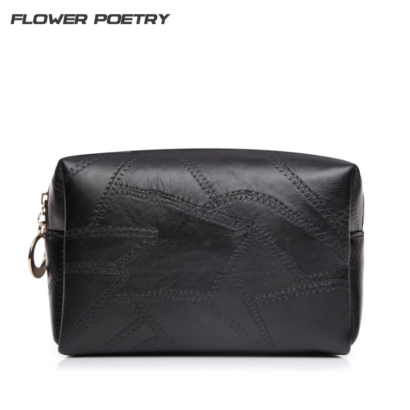 Stitching PU leather High Quality Cosmetic Bag Cosmetic Case Cosmetic Wash Bag Women Makeup Bag Organizer Beautician Washing Bag ...