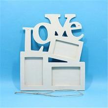 Прямоугольная деревянная фоторамка с семейная с буквами любовь английские буквы Висячие DIY рамка для картин художественное ремесло Домашний декор