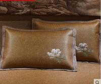 Mat pillowcase ice silk pillow core set single rattan pillowcase summer summer cool pillowcase pair of