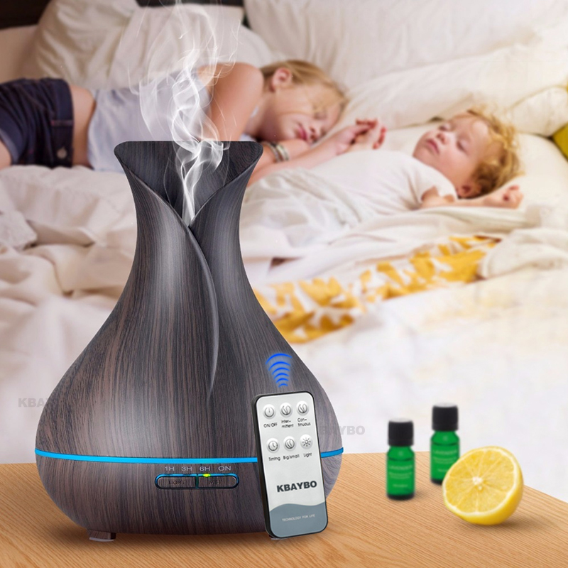 KBAYBO 500mL Remote Control Large Capacity Humidifier for Oil Electric Aroma Diffuser Ultrasonic Humidifier for Home