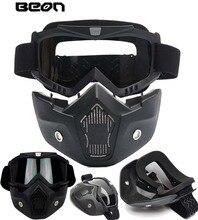 2016 новый подлинный BEON ретро — дорога мотоциклетный шлем очки для беговых анти-туман защитные очки маска черного цвета