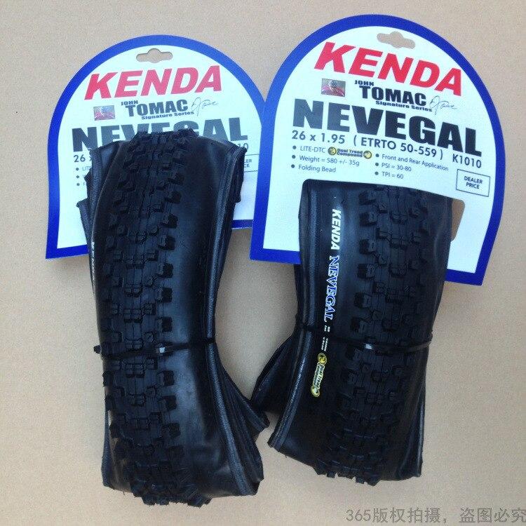 Livraison gratuite vtt vélo pneu KENDA K1010 pliant vide tout-terrain pneu 26*1.95 vélo chambre à air vélo pneu 595G accessoire