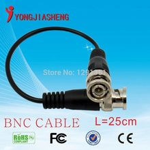 1pcs 25cm Coaxial extend Cable BNC to BNC CABLE for CCTV Cameras freeshipping