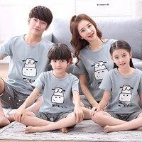 Mother and Daughter Clothes Family Match Outfit Father Mother Daughter Clothes Summer Children Pijamas Kids Boys Girls Pyjamas