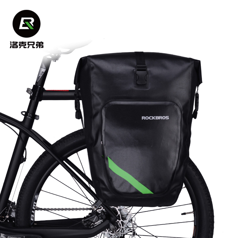 Rockbros Bike Bag 27L Nylon Waterproof Bicycle Saddle Bag MTB Road Bike Rear Seat Bag Cycling Rack Trunk Bag Bicycle Accessories roswheel mtb bike bag 10l full waterproof bicycle saddle bag mountain bike rear seat bag cycling tail bag bicycle accessories