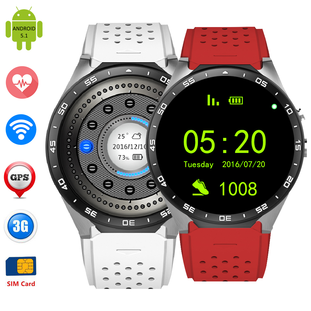ZW88 Smart Watch WiFi 3G WCDMA Heart Rate Bluetooth Android 5 1 font b Smartwatch b