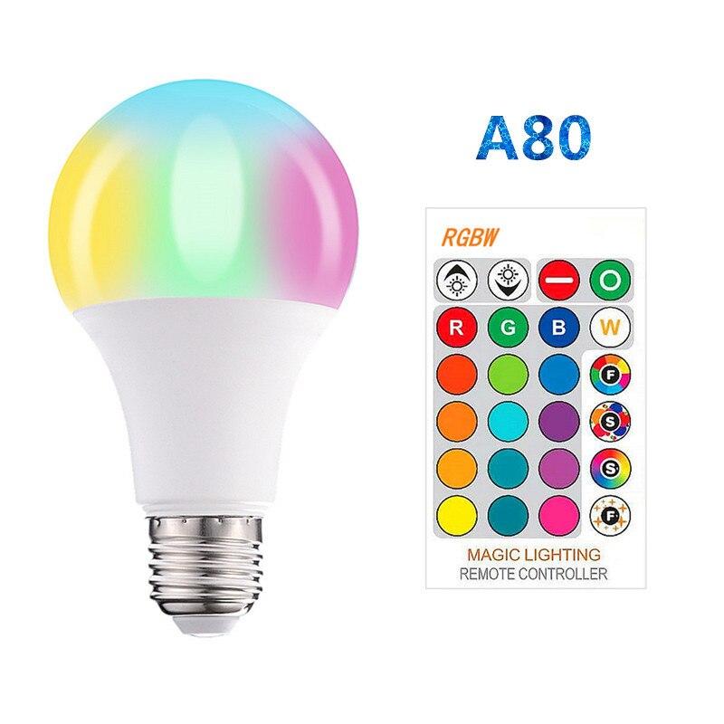 E27 B22 RGB LED Bulb Light 9W 12W 15W 20W RGB White Lampada Changeable Colorful RGB LED Lamp With IR Remote Control+Memory Mode