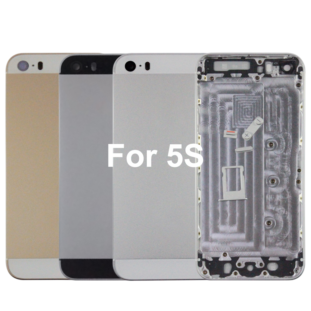 Aluminum Alloy High Quality Back Housing for iPhone 5S 4.7 Battery Frame Chassis Cover Tools IMEi Free Shipping