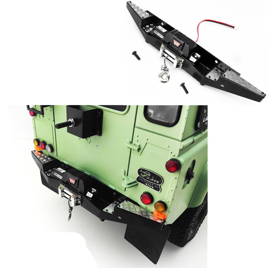 <font><b>1/10</b></font> RC <font><b>Accessories</b></font> Metal Rear Winch Bumper Fit For 1:10 Scale Rock Crawler Toys Car 4WD Gelande II D90 D110 Upgrade Parts image