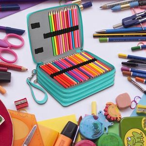 Image 4 - 뜨거운 판매 168 슬롯 prismacolor 수채화 연필, 색연필, 지퍼 스트랩과 슈퍼 대용량 펜 가방,