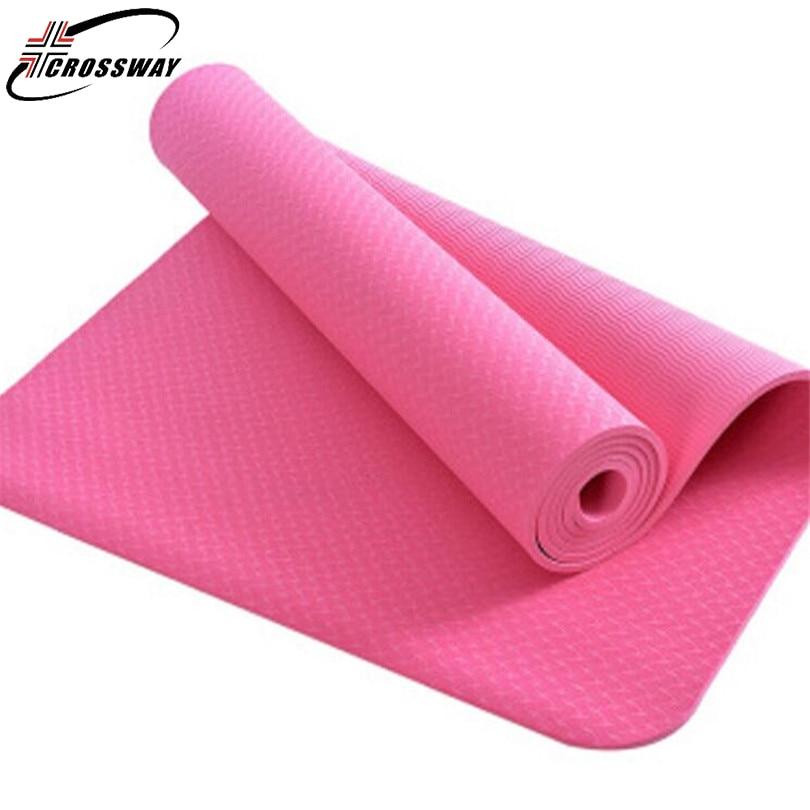все цены на CROSSWAY 6mm Yoga mat Outdoor foldable mattress Picnic Thin Blanket portable Women Beach Mandala Yoga Mat Sport non-slip Pad1200 онлайн