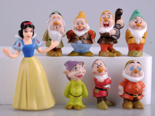 Hot Snow White And The Seven Dwarfs Figures / Cake Topper/ Kids Gift 8pcs