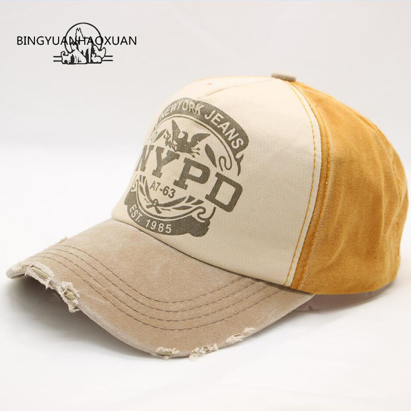 BINGYUANHAOXUAN2017 High Quality Summer& Autumn Casual Cotton Women And Men Letter Printed Snapback Baseball Caps Adjustable Hat