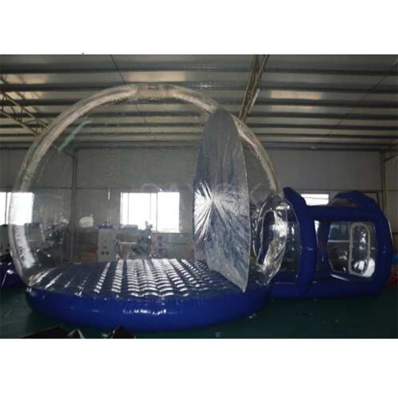 Transparent inflatable Tent clear bubble House Single Tunnel Inflatable Bubble Tent