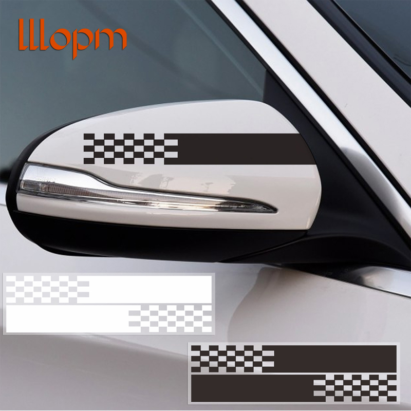 Car styling reflective car stickers and decals auto rearview mirror decoration exterior accessories diy 4 colors car accessories
