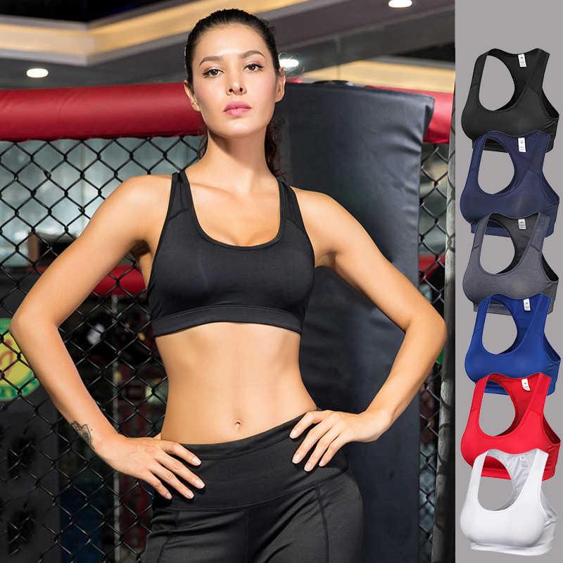 סקסי נשים ספורט למעלה לדחוף את ספורט חזייה מרופד גופיות השפעה גבוהה חזיות יוגה בתוספת גודל אפוד הזעות עבור ריצה חדר כושר כושר