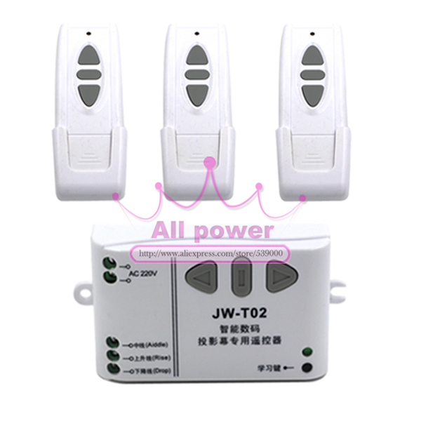 220V Motor Controller  Wireless Remote Control Switch System UP/Down/Stop Tubular Motor Controller Forward Reverse For Shutter ac 220v motor wireless remote control switch up down stop tubular motor controller motor forward reverse tx rx latched