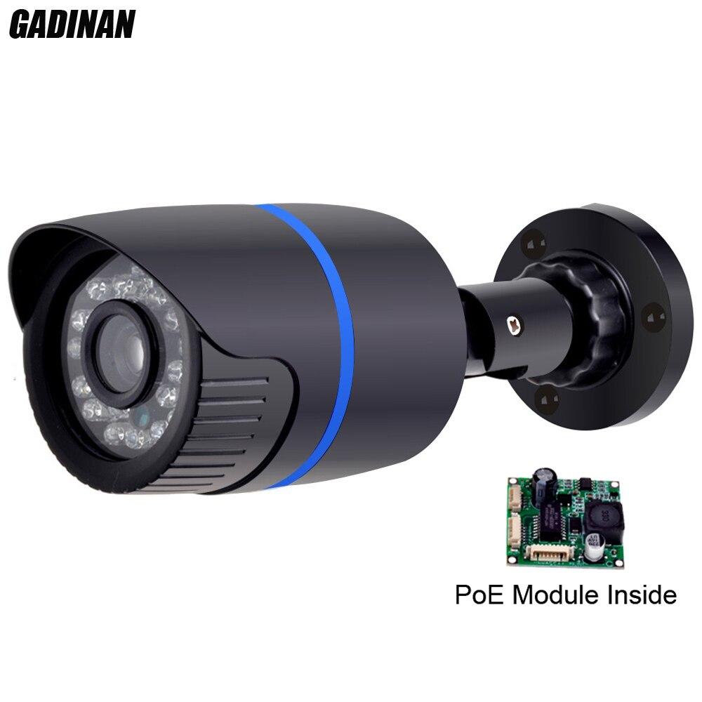 ФОТО Gadinan 1080P 2MP(HI3516C+SC2035) 48V Built In PoE Module H.264 ONVIF Waterproof Night Vision P2P Bullet IP Camera ABS Plastic