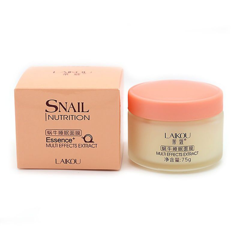 75g Snail Sleeping Mask Essence Moisturizing Night Cream Anti Aging Wrinkle Cream as shown 2