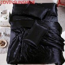 LOVINSUNSHINE Luxus Bettwäsche Set Bettbezug Einzel Tröster Bettwäsche sets König Größe Seide AB04 #