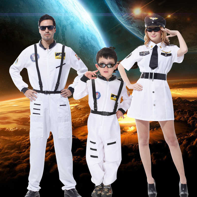 Halloween boys girls costumes Children astronauts costumes women astronauts clothes spacesuit clothes cos photographing clothing