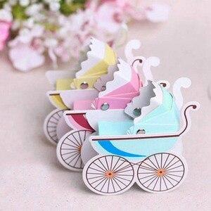 10pc Baby Shower Candy Box noworodek chrzest piękny Mini wózek pudełka na cukierki piękny Babyshower dziecięcy upominek przyjęcie pudełka