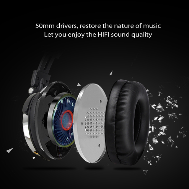 Oneodio Wired DJ Headphones Bass Stereo Gaming Headset With Microphone For Phone Over Ear Professional Studio Monitor Headphone 3