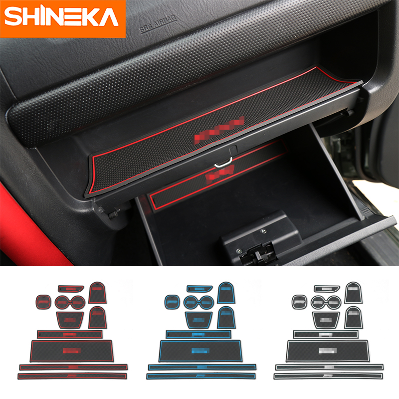 SHINEKA Car Gate Slot Mats Anti-Slip Door Groove Mat Water Proof Pad for Suzuki Jimny Left Hand Drive Car Accessories Styling for suzuki vitara right hand drive dashboard mat protective pad black red car styling interior refit sticker mat products
