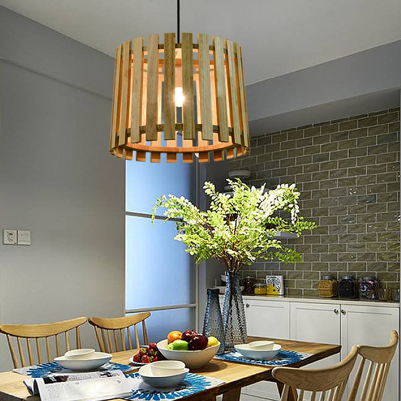 Nordic new Chinese solid wood Pendant Lights creative art dining room living room  simple wooden rounded Pendant lamps  MZ148 chinese style iron lantern pendant lamps living room lamp tea room art dining lamp lanterns pendant lights za6284 zl36 ym