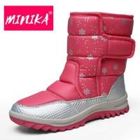 MINIKA 2017 New Arrival Platform Ankle Boots Women Warm Plush Insole Women Winter Boots Hook Loop