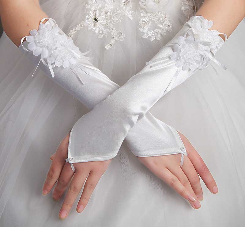 Weddings & Events Wedding Accessories Kid Gloves Flower Girl Gloves Long Gloves Girl Dancing Costume Gloves Free Shipping Wholesale