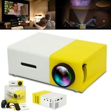 YG300 유니버설 60 인치 HD 배터리 운영 휴대용 미니 LED 포켓 프로젝터 홈 시어터 어린이 교육 비머 Projetor