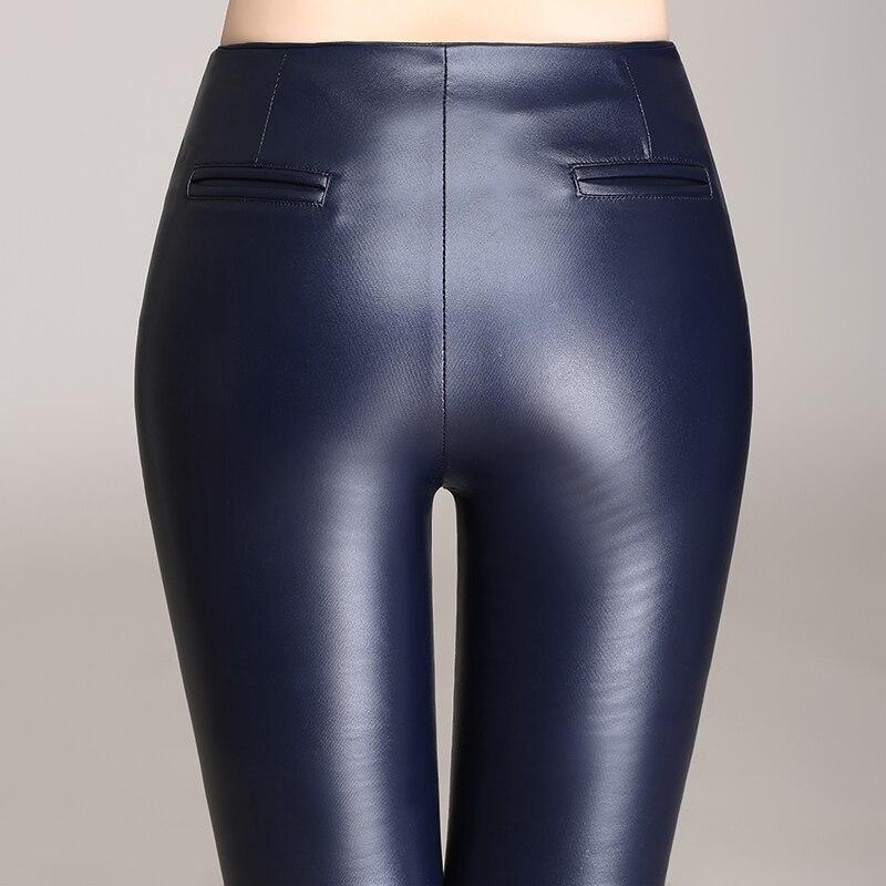 b1a2bf6f1c78 Hot!2015 Winter Women Pants PU Leather Pants Warm Plus Thick Velvet Big  Yards Slim Zipper Pants Pants Ladies Trousers 4XL-in Pants   Capris from  Women s ...