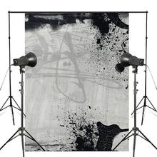 5x7ft Exquisite Black White Inked Photography Backdrop Gray Background Art Photo Studio Props