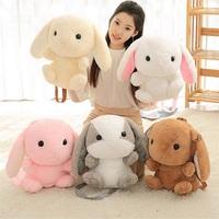 Cute Rabbit Plush Backpack Lovely Lop Kids Toys Shoulder Bag Girls Boys School Birthday Children Kids
