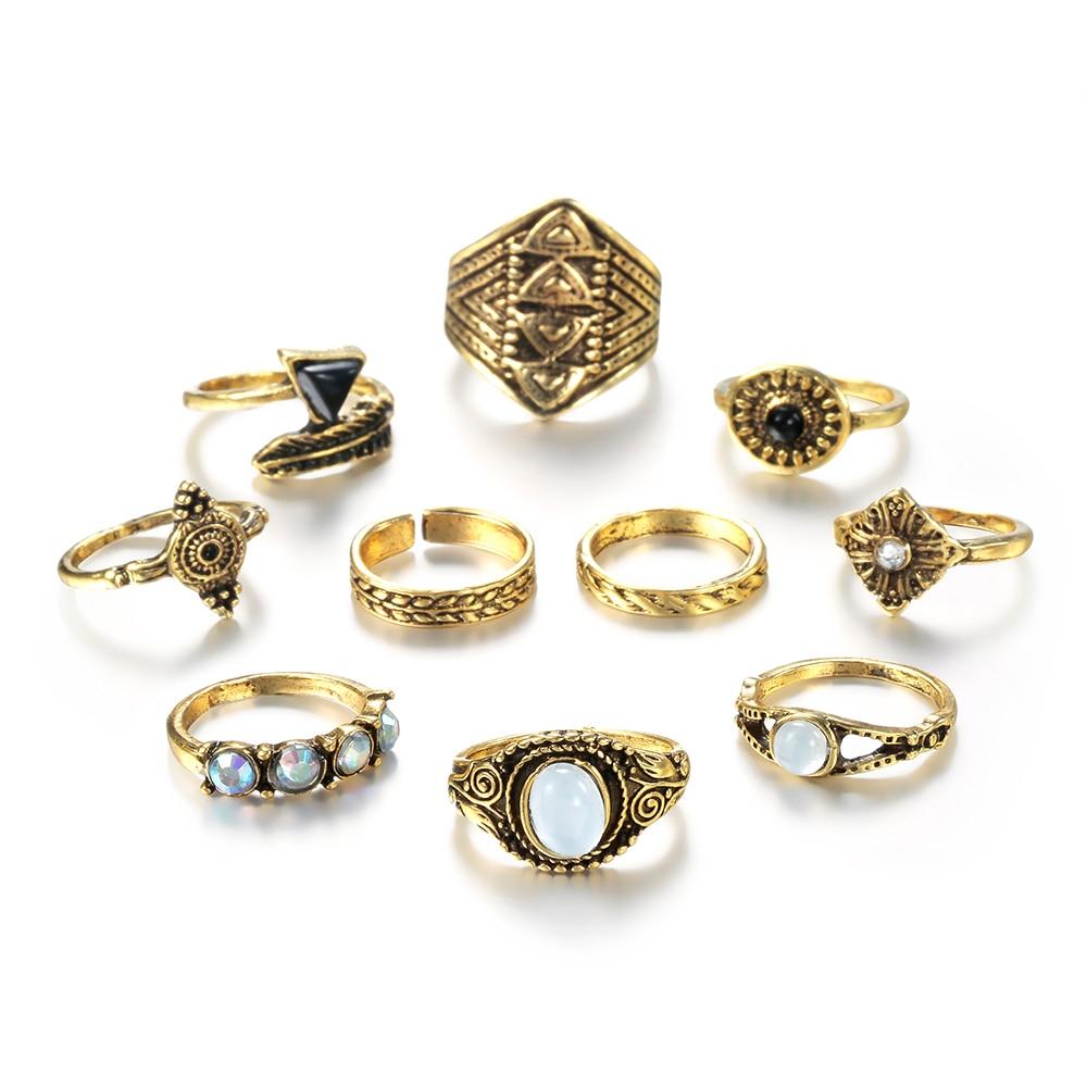 Vintage Knuckle Ring Set 4