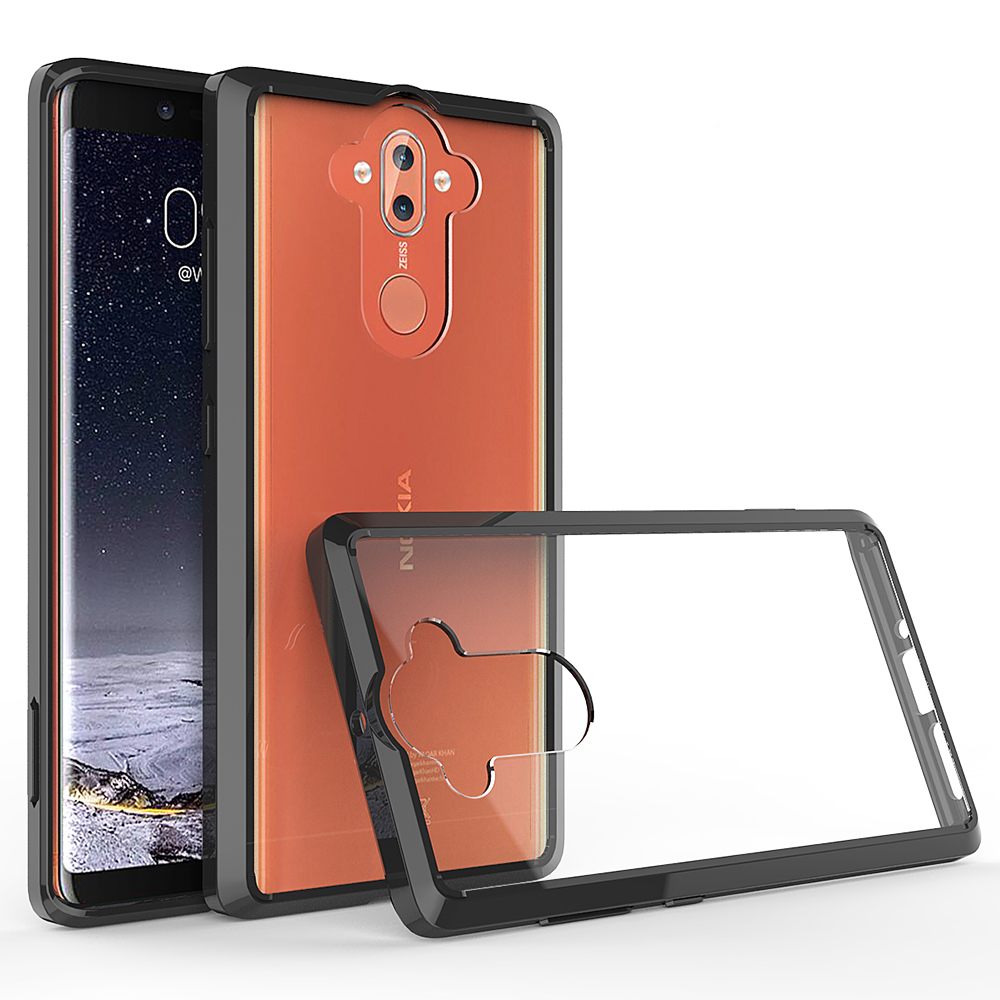 For Nokia 8 Sirocco Case 5.5'' Crystal Bumper Clear Hard Acrylic Back Cover For Nokia 8 Sirocco Phone Cases For Nokia8 Sirocco