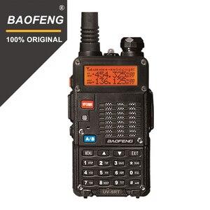 Image 1 - 100% Baofeng UV 5RT المتقدمة اتجاهين راديو مع قابلة للشحن 1800MAh بطارية ليثيوم أيون UHF VHF جهاز الإرسال والاستقبال UV5R راديو Comunicador