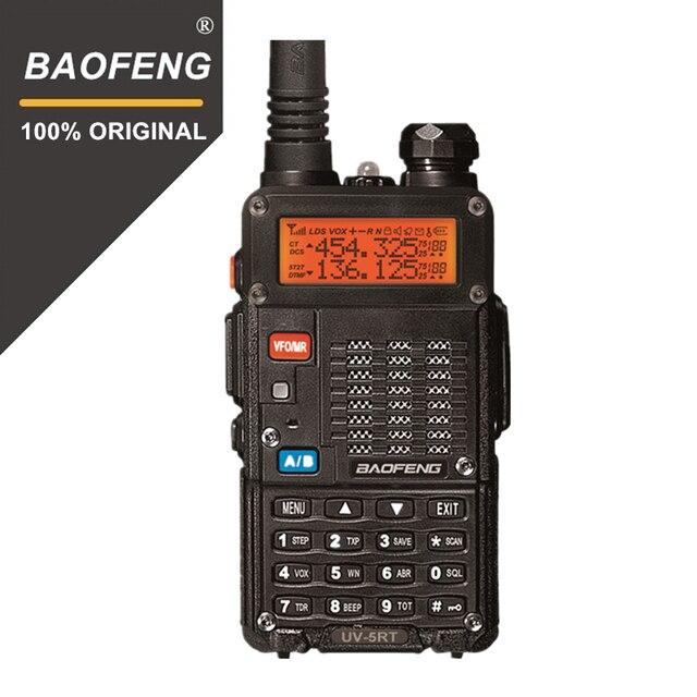 100% Baofeng UV 5RT المتقدمة اتجاهين راديو مع قابلة للشحن 1800MAh بطارية ليثيوم أيون UHF VHF جهاز الإرسال والاستقبال UV5R راديو Comunicador
