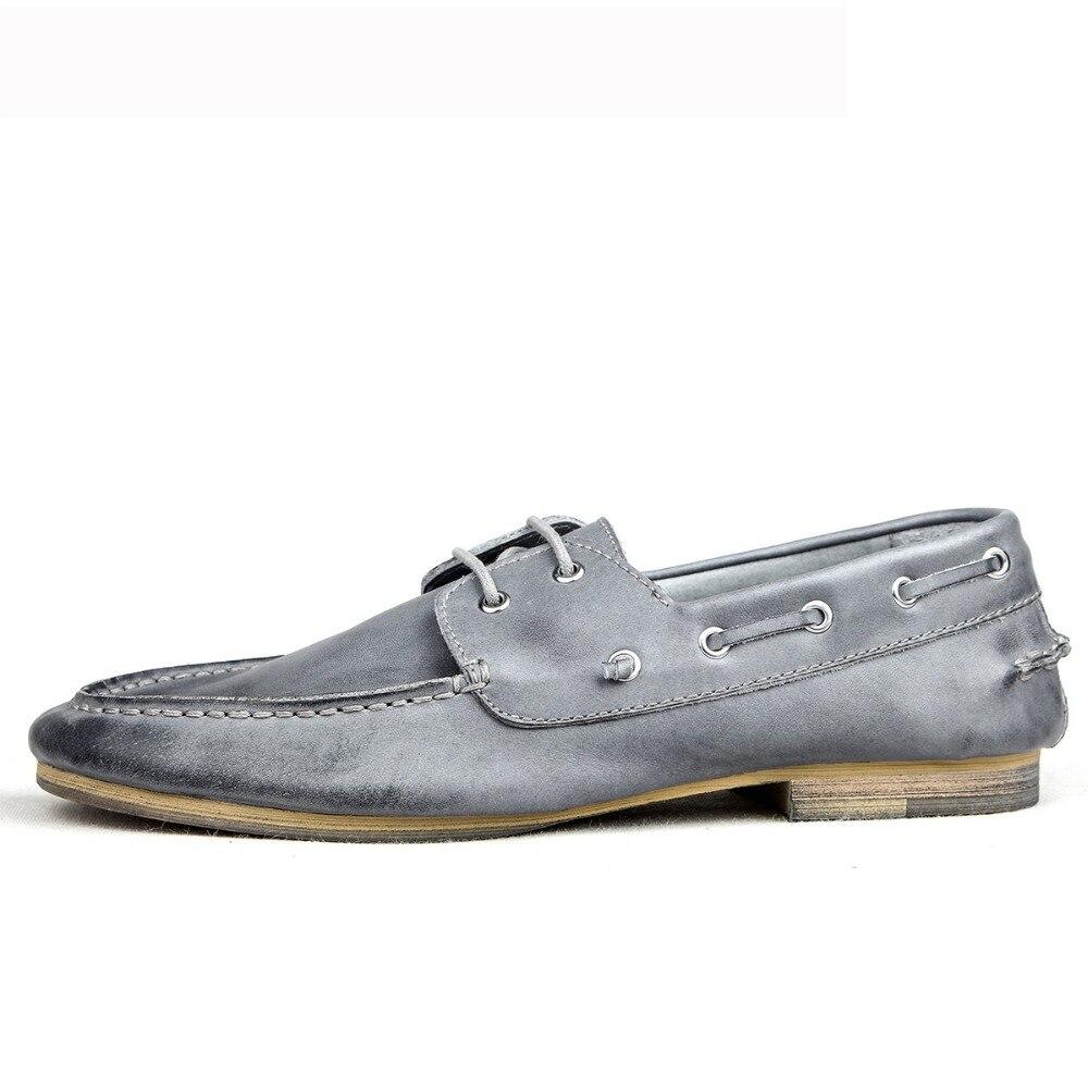 Mycolen Homens Preguiçosos Pria cáqui Kulit Marca Mocassins De Gray Sapatos Silver Condução Nova Respirável Verão Casuais Flats Sepatu Hrprwdx