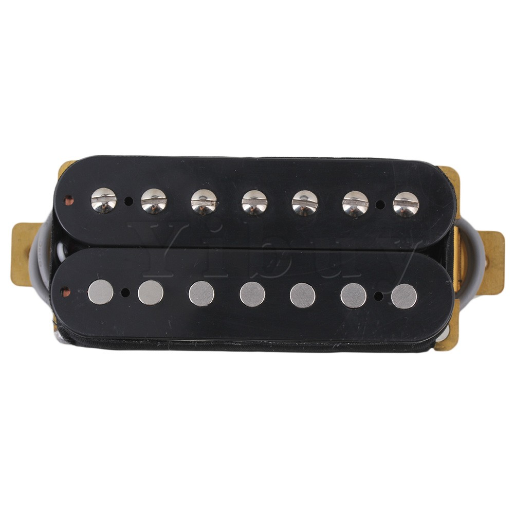 Yibuy Double Coil Pickups Humbucker Replacement for 7 String Electric Guitar electric guitar pickup humbucker for 6 string 6 pieces double coil pickups set neck bridge pickup humbucker double coil