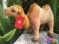 Высокое качество 22 см моделирование мягкую двугорбый верблюд куклы плюшевые игрушки моделирования животных игрушки детские подарки