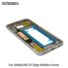 Middle Frame For Samsung Galaxy S7 edge LCD Back Chassis Plate Bezel Housing G935 G935F Replacemenrt Parts