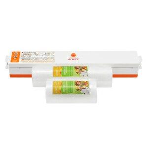 Image 2 - Пищевой вакуумный упаковщик ATWFS, упаковочная машина, в комплекте 15 пакетов и рулоны для вакуумной упаковки, 20 Х500 см + 12 Х500 см